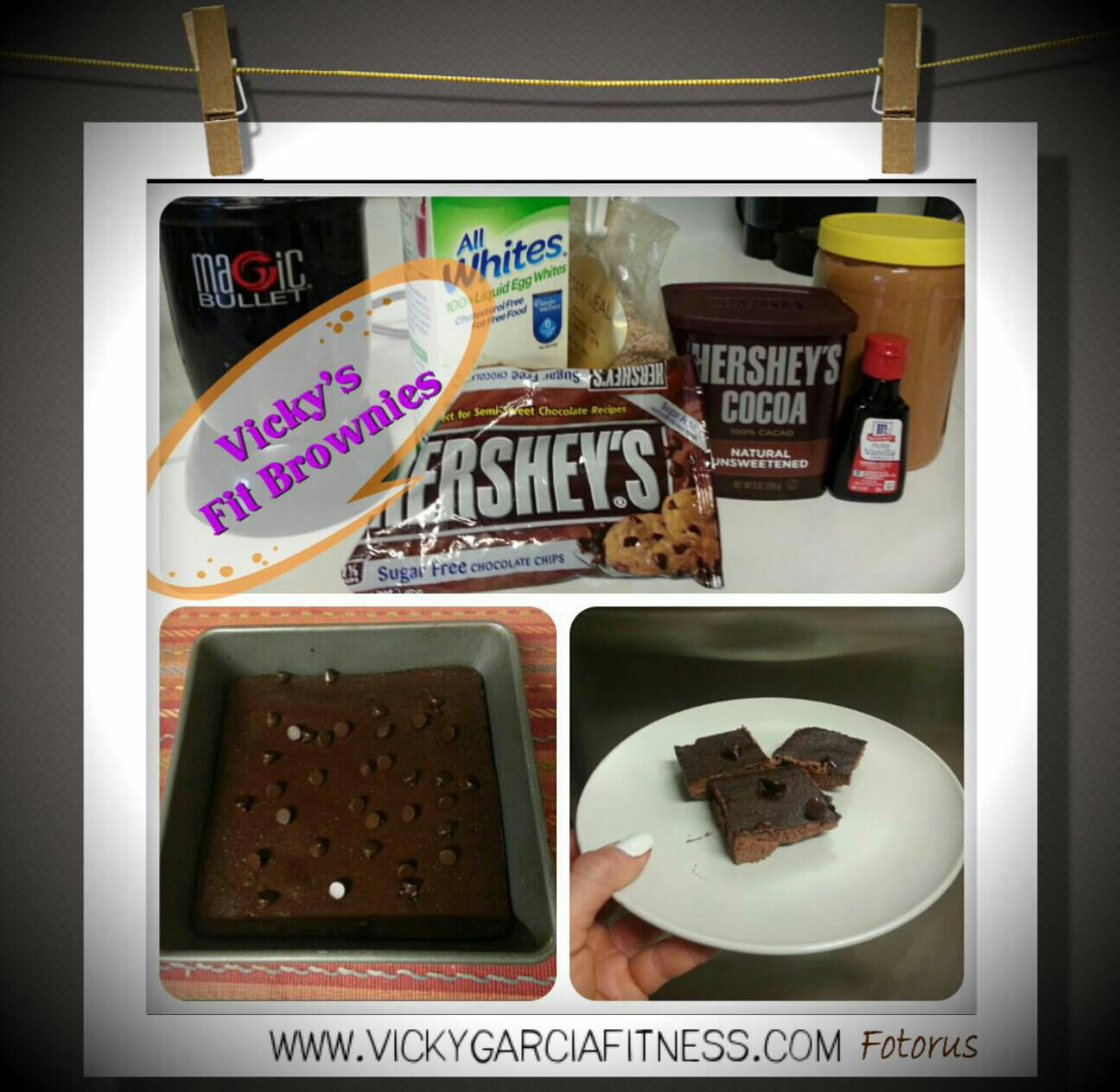 Vicky's Fit Brownies Recipe